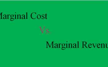 What are the differences between marginal Cost and marginal Revenue?