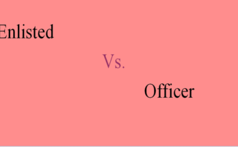 Difference between Enlisted and Officer
